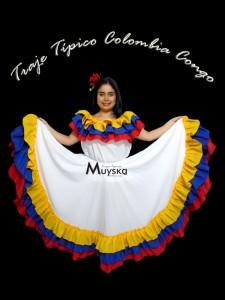 Traje Típico Colombia Blanco