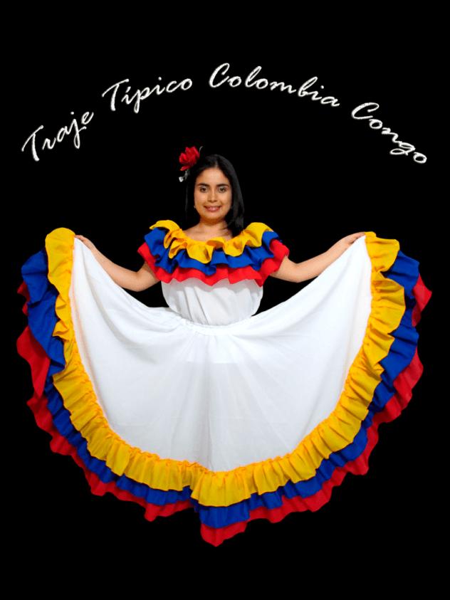 Traje-Típico-Colombia-Congo-Mujer